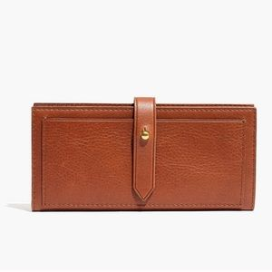 Madewell Bags - Madewell The Post Wallet Brown Leather